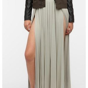 UO double slit maxi skirt
